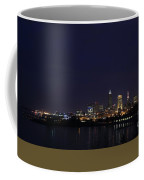 Cleveland Skyline On The Frozen Lake Erie Shore Coffee Mug