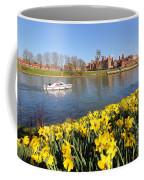 Daffodils Beside The Thames At Hampton Court London Uk Coffee Mug