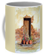 Door With Pots Coffee Mug