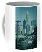 Early Morning Sunrise Over Charlotte North Carolina Skyscrapers Coffee Mug