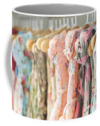Floral Pattern Young Girl Dresses In Shop Coffee Mug