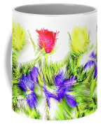 Flower Frame Border Coffee Mug