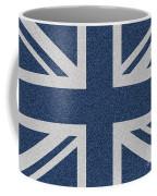 Great Britain Denim Flag Coffee Mug