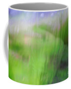 Green Landscape Abstract Coffee Mug