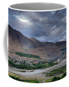 Indus River And Kargil City Leh Ladakh Jammu Kashmir India Coffee Mug