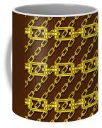 Iron Chains With Wood Seamless Texture Coffee Mug