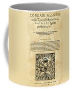 Konrad Von Gesner Coffee Mug
