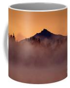 Mount Pilchuck Sunrise With Fog Coffee Mug