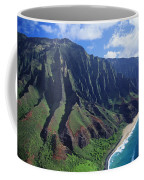 Na Pali Coast Aerial Coffee Mug