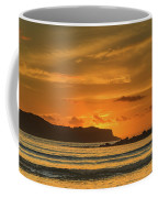 Orange Sunrise Seascape And Silhouettes Coffee Mug