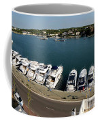 panoramic town 1 - Panorama of Port Mahon Menorca Coffee Mug