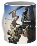 Pararescuemen Sorts Out His Gear Coffee Mug