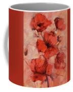 Poppy Flowers Handmade Oil Painting On Canvas Coffee Mug