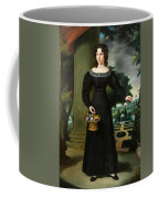 Portrait Of A Young Lady With Flower Basket Coffee Mug