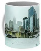 Rare Wintry Mix Around Charlotte City Streets In North Carolina Coffee Mug