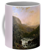 River In The Ardennes At Sunset Coffee Mug