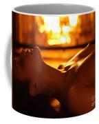 Sexy Naked Woman Under Melting Icicles Coffee Mug