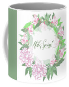 Spring  Background With White And Pink Peony Coffee Mug