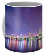 St Petersburg Florida City Skyline And Waterfront At Night Coffee Mug