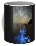 Star Trails And Bioluminescence Coffee Mug by Philip Hart