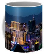 the Strip at night, Las Vegas Coffee Mug
