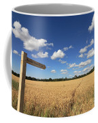 Tracks Through Golden Wheat Field Coffee Mug