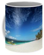 Traditional Filipino Ferry Taxi Tour Boats Puka Beach Boracay Ph Coffee Mug