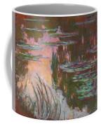 Water Lilies, Setting Sun Coffee Mug