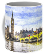 Westminster Bridge And Big Ben Art Coffee Mug