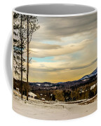Winter Landscape And Snow Covered Roads In The Mountains Coffee Mug
