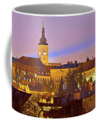 Zagreb Historic Upper Town Night View Coffee Mug