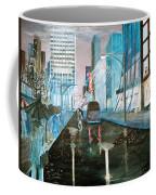 42nd Street Blue Coffee Mug by Steve Karol