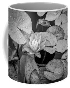 4434- Lily Pads Black And White Coffee Mug