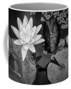 4475- Lily Pads Black And White Coffee Mug