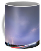 47 Street Lightning Storm Light Trails View Coffee Mug by James BO  Insogna