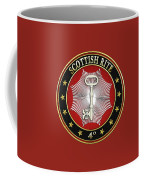 4th Degree - Secret Master Or Master Traveler Jewel On Red Leather Coffee Mug