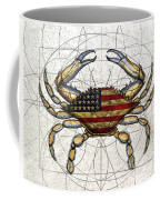 4th Of July Crab Coffee Mug by Charles Harden