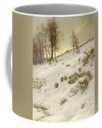 A Flock Of Sheep In A Snowstorm Coffee Mug