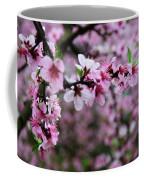 Blossoming Peach Flowers Closeup Coffee Mug