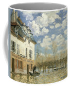 Boat In The Flood At Port Marly Coffee Mug