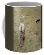 Boy With A Crow Coffee Mug