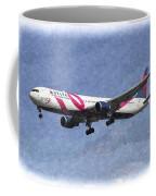 Delta Airlines Boeing 767 Art Coffee Mug