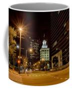 Downtown Tampa Florida Skyline At Night Coffee Mug