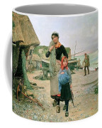 Fisherfolk Returning With Their Nets 1882 Henry Bacon Coffee Mug