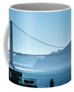 Golden Gate Bridge In Its Beauty At Sunset Coffee Mug
