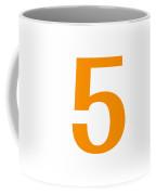 5 In Tangerine Typewriter Style Coffee Mug