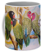 Flygende Lammet     Productions          5 Lovebirds Sitting On A Twig Coffee Mug