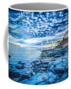 Newport Bridge Connecting Newport And Jamestown At Sunrise Coffee Mug