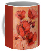 Poppy Flowers Handmade Oil Painting On Canvas Coffee Mug