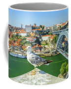 Porto Skyline Seagull Coffee Mug